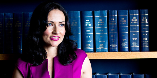 Senior Solicitor Merran Chisholm, wearing a dress from Ted Baker ($439). Photo / Babiche Martens