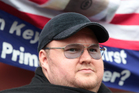Kim Dotcom at a protest march in Aotea Square at the weekend against the GCSB bill. Photo / Herald on Sunday