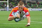 Gareth Anscombe, who had been a bit-part selections for the Hurricanes and Blues, has emerged with strong performances this season for the Chiefs. Photo / Getty Images.