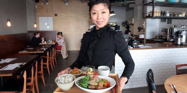 Yuka Ito, of Janken Restaurant, in Ponsonby, serves another adventurously international meal. Photo / Doug Sherring
