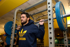 Piri Weepu gets in some training at a Takapuna gym during the All Black camp yesterday. Photo / Brett Phibbs