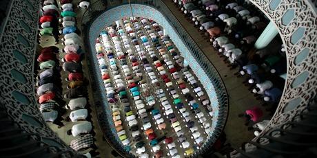 Bangladeshi Muslims offer Friday prayers of Ramadan at Baitul Mukaram national mosque in Dhaka, Bangladesh. Photo / AP