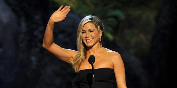 Jennifer Aniston and Justin Theroux are in no rush when it comes to their wedding. Photo / AP