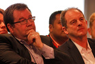 Leader of the opposition David Shearer and Grant Robertson, Deputy Leader. Photo / File