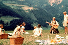 Julie Andrews as Maria and the Von Trapp family in The Sound of Music.
