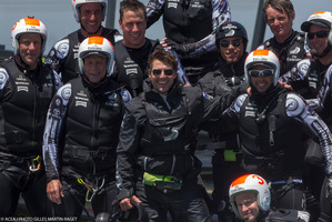 Tom Cruise, Emirates Team New Zealand's guest.