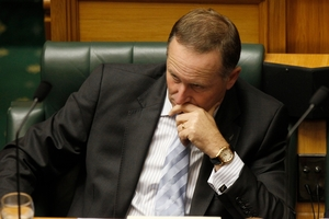 John Key is under pressure but still popular in the polls. Photo / Mark Mitchell