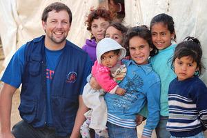 Andrew Robinson in Lebanon.
