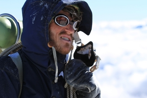 Chad Moffitt plays a young Sir Edmund Hillary in  Beyond the Edge .
