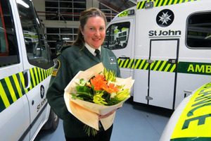 St John Queenstown ambulance officer Jeanette Anderson. Photo / James Beech