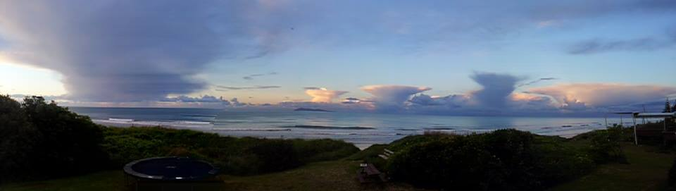 Mushroom clouds at Waihi Beach