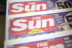 The Irish version of Rupert Murdoch's tabloid The Sun has dropped its topless page three pin-ups.Photo / AP