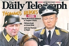 Front page of the Daily Telegraph in Sydney.