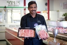 Ragupathy (Sam) Nadason of Sam's Butchery won the Bacon of the Year award. Photo / Sarah Ivey