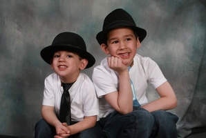 Brothers Noah (left) and Connor Barthe.