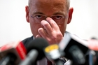 Fonterra chief executive Theo Spierings fronted media in Beijing and by teleconference to New Zealand last night and apologised to Kiwi parents.  Photo / AP