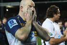Stephen Moore of the Brumbies shows his disappointment after losing the Super Rugby Final match between the Chiefs and the Brumbies. Photo / Getty Images.