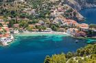 Assos on the Island of Kefalonia in Greece. Photo / Getty Images