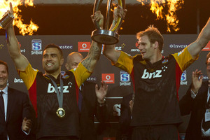 Chiefs co-captains Liam Messam and Craig Clarke. Photo / Alan Gibson