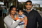 Harisha (left), Shrey and Jamal Bhikha, have found it hard to get information about the whey scare.  Photo / Michael Craig