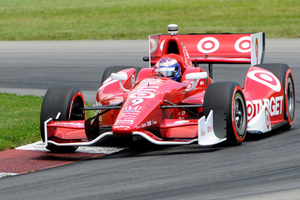 Scott Dixon takes a corner during qualifying for Monday's race. Picture/AP