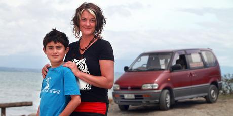 Nelson film-maker Emma Heke and son Connor. Photo / Tim Cuff