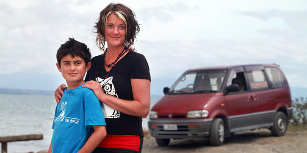 Nelson film-maker Emma Heke and son Connor. Photo / Tim Cuff