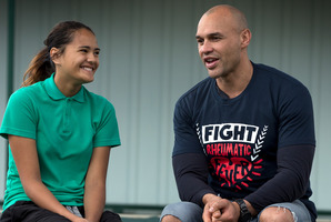 School pupil Crystal King, 13, and ex-Warrior Awen Guttenbeil have had rheumatic fever. Photo / Brett Phibbs