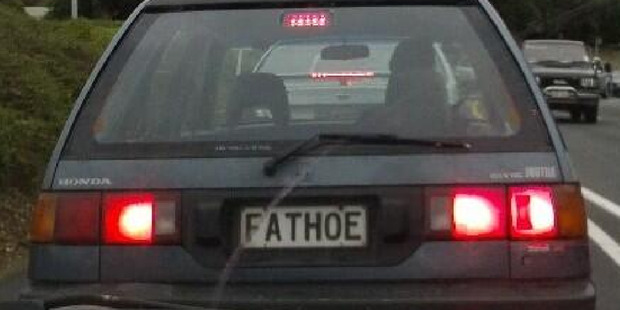 A self-deprecating number plate.