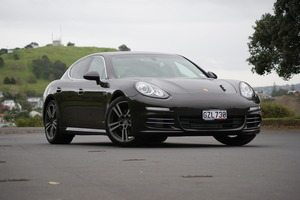 Helping the Porsche Panamera S' pluses in fuel spend are a slightly shorter body and a road-hugging centre of gravity. Pictures / David Linklater