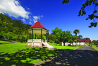 Te Aroha spa and bandstand. Photo / Hamilton and Waikato Tourism