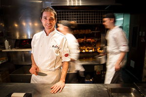 Aaron Brunet has designed a degustation menu at Euro restaurant on Princes Wharf. Photo / Michael Craig