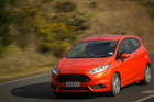 The Ford Fiesta ST is tastefully tweaked, with Recaro seats, a fat little steering wheel and an integrated roof spoiler. Pictures / Ted Baghurst