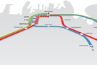 City rail link diagram.