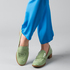 4. Chie Mihara loafers, $490, from Runway. Tibi pants, $550, from Muse. Photo / Greg Bowker