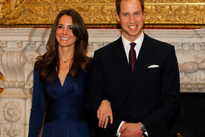 Prince William announces his engagement to Kate Middleton.Photo / AP
