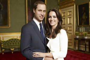 Prince William and Kate Middleton's engagement photograph.Photo / AP