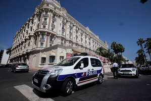 A view of the Carlton hotel, in Cannes, southern France, the scene of a daylight raid. Photo / AP