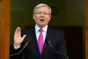 Kevin Rudd enjoys a level of personal support that bears little direct relationship to his performance during his previous stint as Prime Minister. Photo / AP