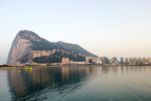 Gibraltar sits accoss the water from the Spanish town of La Linea de Concepcion, Spain. Photo / AP