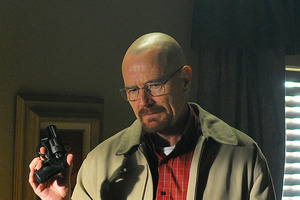 Bryan Cranston portrays Walter White in a scene from Breaking Bad.