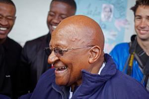 Bishop Desmond Tutu was briefly blocked from Twitter.Photo / AP
