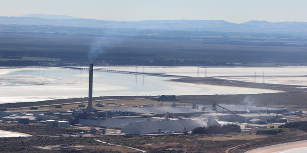 The Tiwai smelter. Photo / Grant Bradley