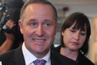 John Key, with journalist Andrea Vance, whose phone log and emails with Peter Dunne were handed to a Prime Ministerial inquiry. Photo / Mark Mitchell