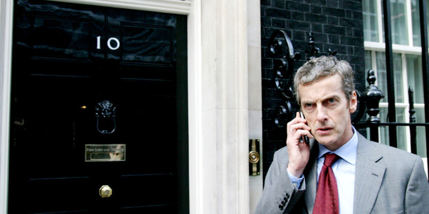 He was always on the phone as Malcolm Tucker in The Thick of It, now he'll get to spend a lot of time in a phone box. Photo / supplied