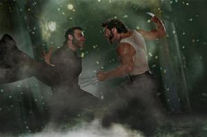 Hugh Jackman and Liev Schreiber in a scene from X-Men Origins.