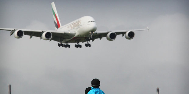 Emirates has 35 A380 aircrafts and has a further 55 on order. Photo / Greg Bowker