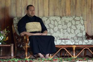 Tongan King Tupou VI. Photo / Sarah Ivey