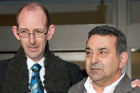 David Bain, left and his supporter Joe Karam in 2009. File photo / APN