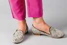 2. Mi Piaci loafers, $170. Elizabeth and James pants, $560, from Muse Boutique. Photo / Greg Bowker